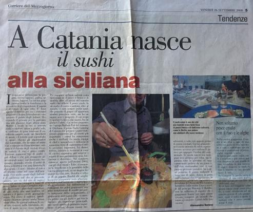Sushi alla Siciliana a Catania - Corriere del Mezzogiorno